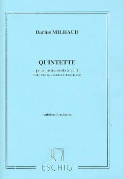 Darius Milhaud - Quintet for wind instruments - Conductor - Partition - di-arezzo.com