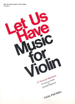 Let us have music for Violon, Volume 2 George Perlman laflutedepan