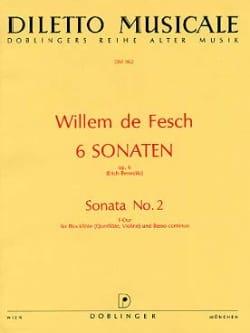 6 Sonaten op. 6 - Sonata Nr. 2 F-Dur Willem de Fesch laflutedepan
