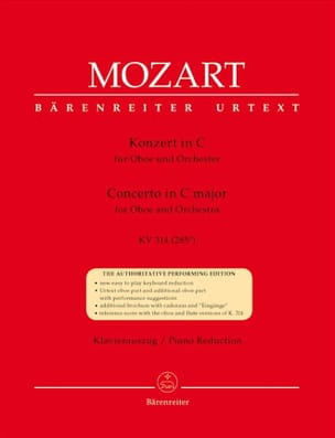 MOZART - Oboenkonzert C-Dur KV 314 - Oboe and piano - Partition - di-arezzo.com