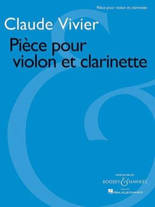 Pièce pour violon et clarinette Claude Vivier Partition laflutedepan