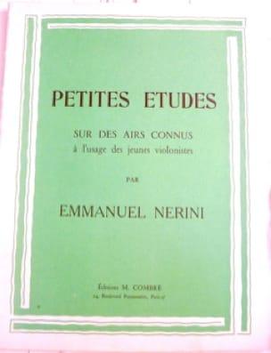 Petites études - Emmanuel Nérini - Partition - laflutedepan.com