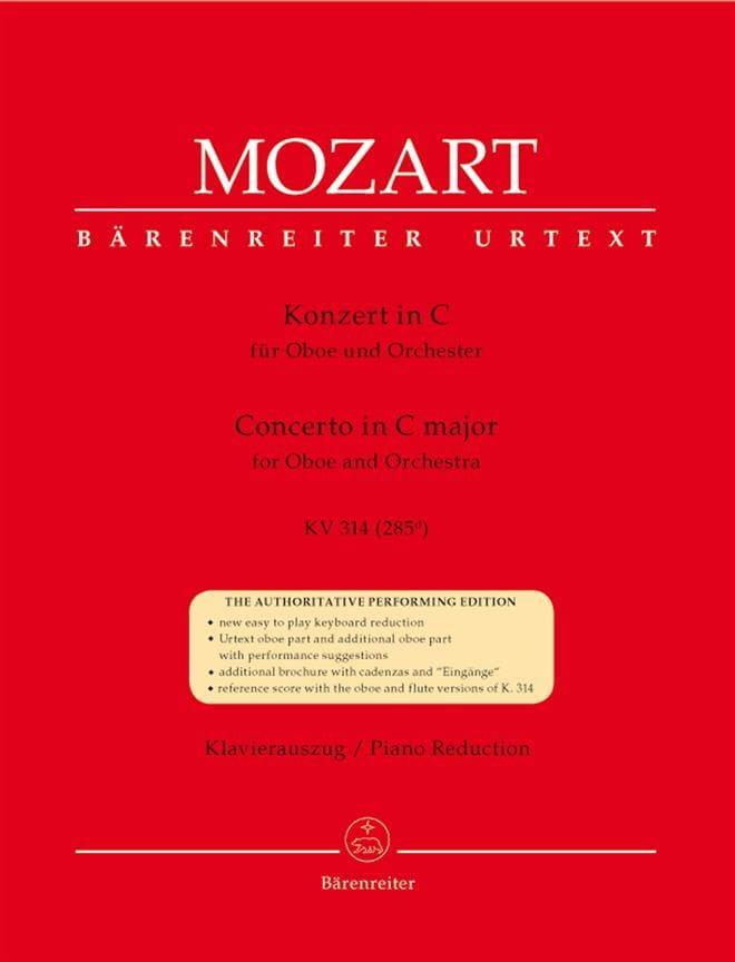 Oboenkonzert C-Dur KV 314 - Hautbois et piano - laflutedepan.com