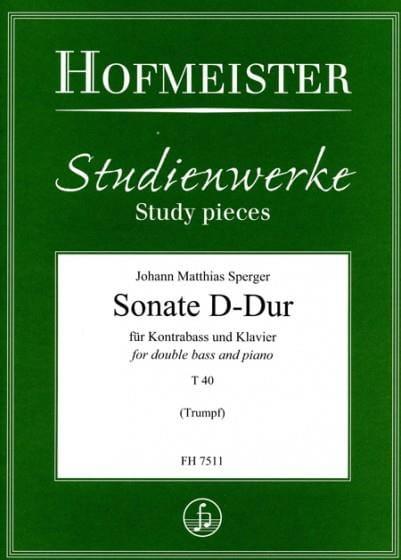 Sonate D-Dur T 40 - Johann Matthias Sperger - laflutedepan.com