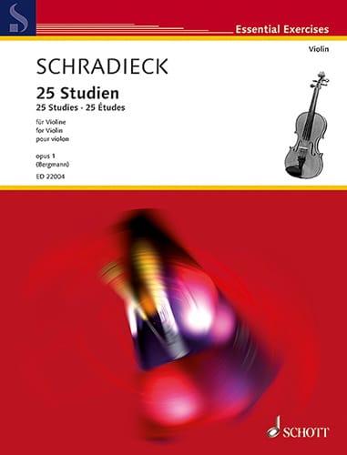 25 Etudes, op. 1 - Violon - Henry Schradieck - laflutedepan.com