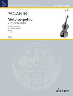 Moto Perpetuo op. 11 Kreisler PAGANINI Partition Violon - laflutedepan