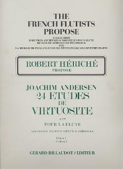 24 Etudes de virtuosité op. 60 - Volume 2 ANDERSEN laflutedepan
