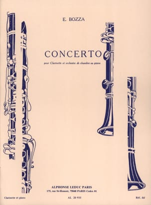 Concerto - Clarinette Eugène Bozza Partition Clarinette - laflutedepan