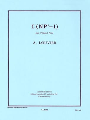 Sigma Np2-1 Alain Louvier Partition Violon - laflutedepan