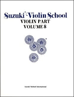 Violin School Vol.8 - Violin Part SUZUKI Partition laflutedepan