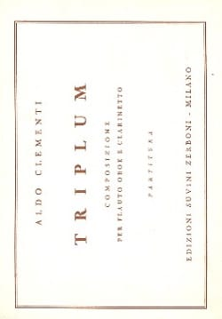 Triplum -Partitura Aldo Clementi Partition laflutedepan