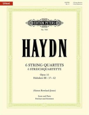 HAYDN - 6 Streichquartette op. 33 - Partitur Stimmen - Partition - di-arezzo.com