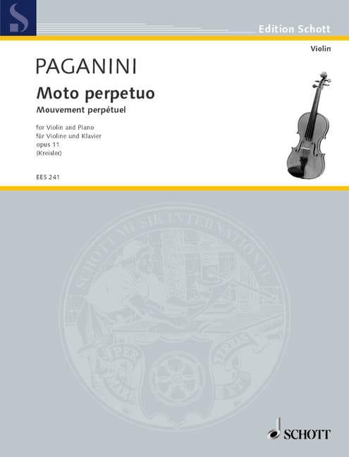 Moto Perpetuo op. 11 Kreisler - PAGANINI - laflutedepan.com