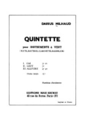 Quintette pour instruments à vent - Parties - laflutedepan.com