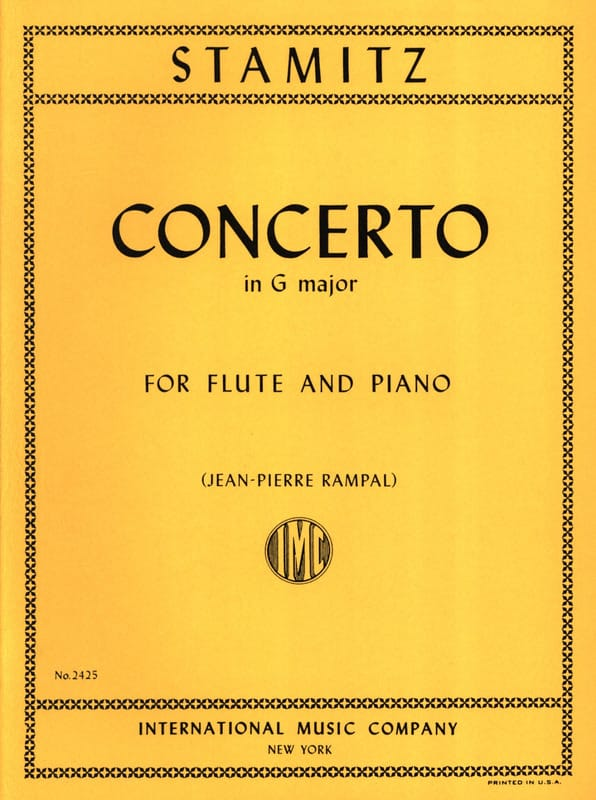 Concerto in G major op. 29 - Flute piano - STAMITZ - laflutedepan.com