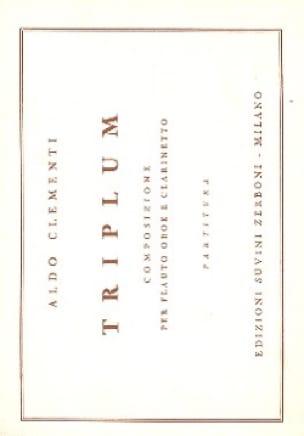Triplum -Partitura - Aldo Clementi - Partition - laflutedepan.com