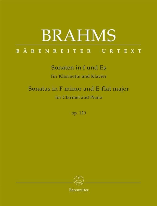 2 Sonates pour clarinette et piano, op. 120 - laflutedepan.com