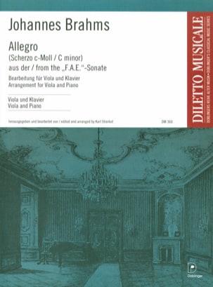 Allegro BRAHMS Partition Alto - laflutedepan