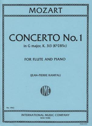 MOZART - Concerto No. 1 G Major KV 313 - Piano Flute - Partition - di-arezzo.co.uk