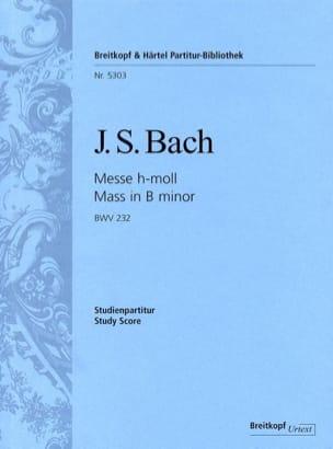 Messe en Si Mineur BWV 232 BACH Partition Petit format - laflutedepan
