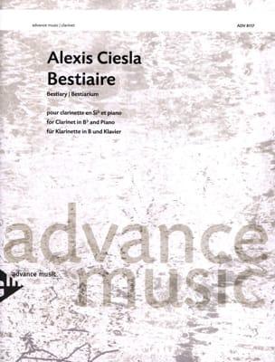 Bestiaire Alexis Ciesla Partition Clarinette - laflutedepan