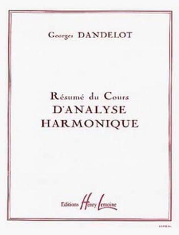 Résumé du cours d'analyse harmonique - DANDELOT - laflutedepan.be