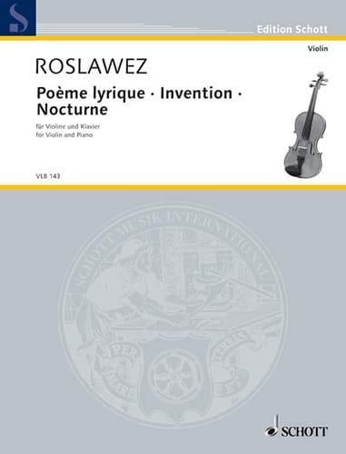 Poème Lyrique - Invention - Nocturne - laflutedepan.com