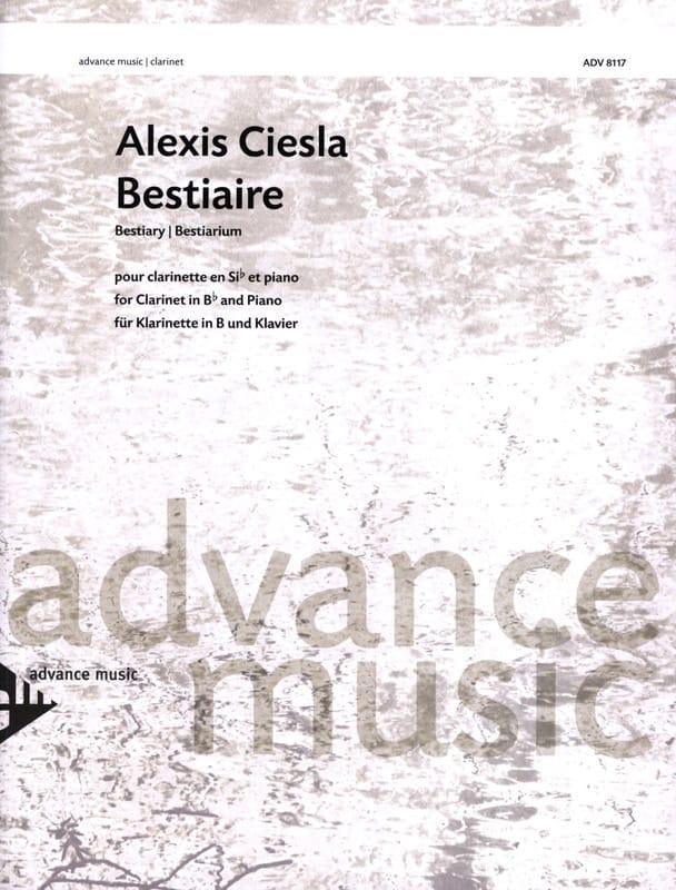 Bestiaire - Alexis Ciesla - Partition - Clarinette - laflutedepan.com