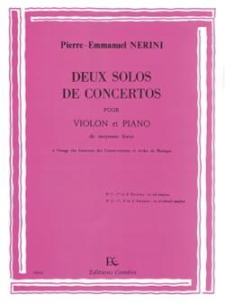 2 Solos de Concertos Pierre-Emmanuel Nerini Partition laflutedepan