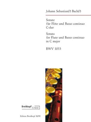 Sonate en Do Maj. BWV 1033 BACH Partition laflutedepan