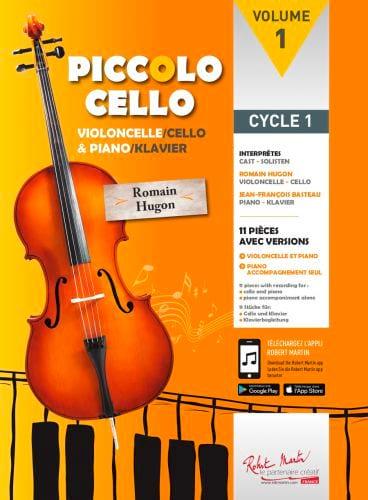 Piccolo Cello - Volume 1 - Romain Hugon - Partition - laflutedepan.com