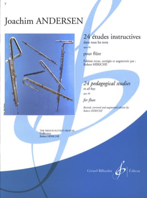 24 Etudes instructives op. 30 ANDERSEN Partition laflutedepan