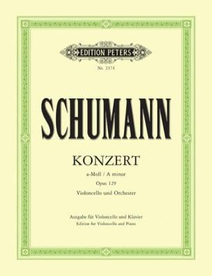 SCHUMANN - Cello Concerto a minor op. 129 - Partition - di-arezzo.co.uk