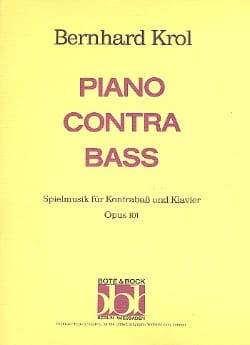 Piano contra Bass op. 101 Bernhard Krol Partition laflutedepan