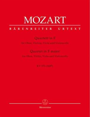 Quartett F-Dur KV 370 - Oboe Violine Viola Violoncello laflutedepan