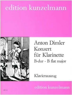 Konzert B-Dur für Klarinette Anton Dimler Partition laflutedepan