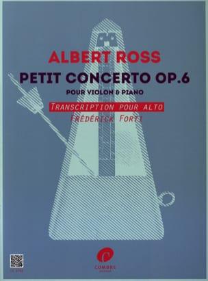 Petit Concerto, op. 6 - Alto et piano Albert Ross laflutedepan