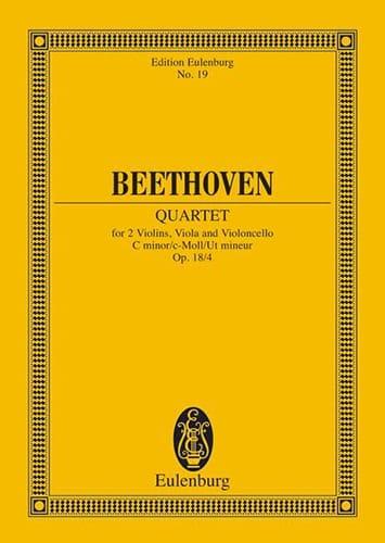 Streichquartett c-moll op. 18/4 -Partitur - laflutedepan.com