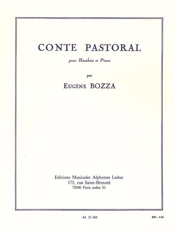 Conte pastoral - Eugène Bozza - Partition - laflutedepan.com