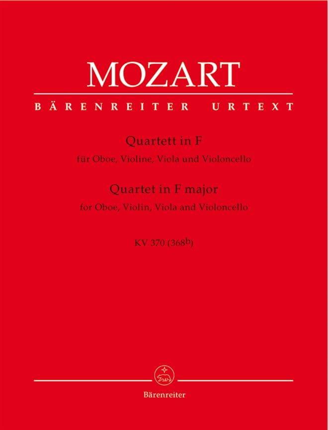 Quartett F-Dur KV 370 - Oboe Violine Viola Violoncello - laflutedepan.com