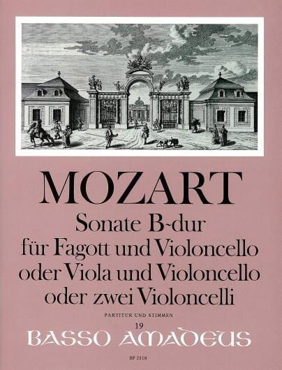 Sonate en Sib Majeur Kv 292 - MOZART - Partition - laflutedepan.com