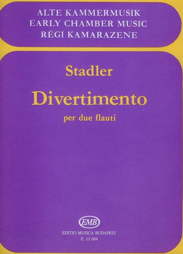 Divertimento - 2 Flauti - Anton Stadler - Partition - laflutedepan.com