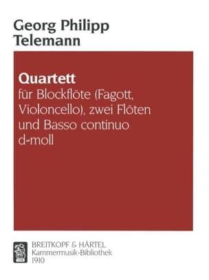 Quartett d-moll TELEMANN Partition Quatuors - laflutedepan