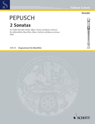 2 Sonaten - Altblockflöte u. Bc Johann Christoph Pepusch laflutedepan