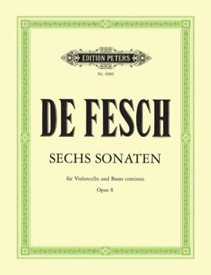 Sonaten op. 8 Willem de Fesch Partition Violoncelle - laflutedepan