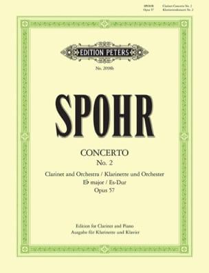 Concerto Clarinette n° 2 mib majeur op. 57 SPOHR laflutedepan