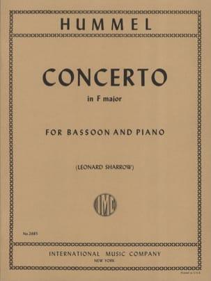 Concerto in F major -Bassoon piano HUMMEL Partition laflutedepan