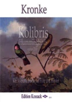 Colibris - Flûte et piano Emil Kronke Partition laflutedepan
