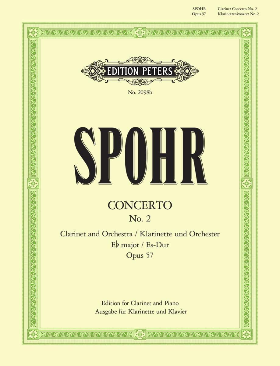 Concerto Clarinette n° 2 mib majeur op. 57 - SPOHR - laflutedepan.com