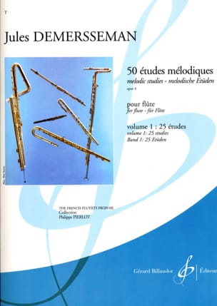 50 Etudes Mélodiques Op. 4 Volume 1 Jules Demersseman laflutedepan